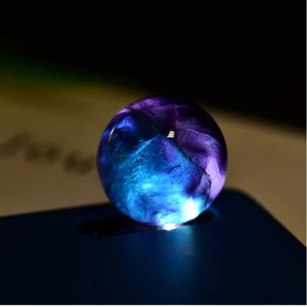 fluorite quartz crystal ball